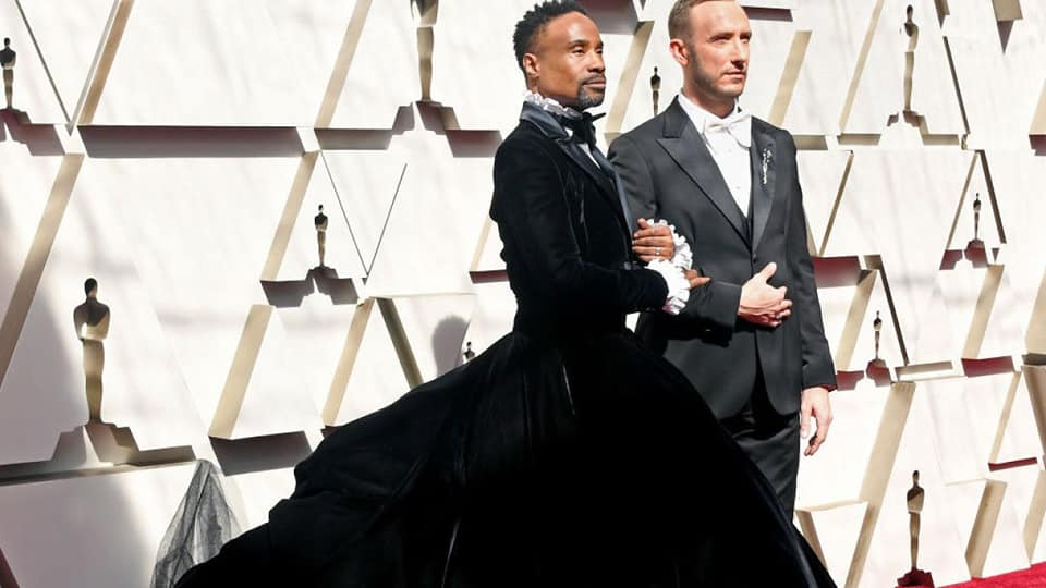 Billy Porter Wears Dress On Red Carpet at Oscars
